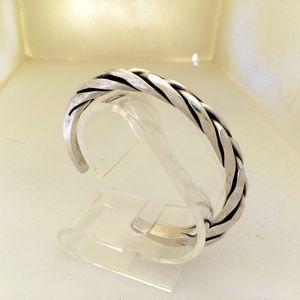 Jewelry - Sterling Silver Woven Cuff Bracelet